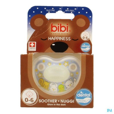 Bibi Fopspeen Dental Glow In The Dark 0- 6m