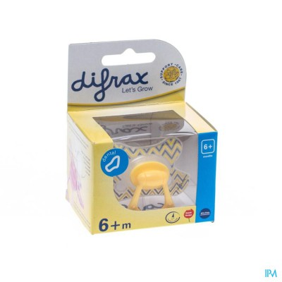 Difrax Fopspeen Sil Dental+ring +6m 800
